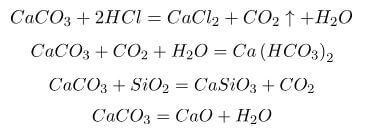 Химические свойства известняка