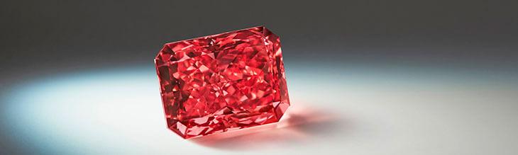 Цена на красные бриллианты и красные алмазы в мире